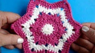 Вязание крючком Урок 244 Шестиугольная звезда  Crochet star