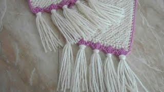 как сделать кисти для шарфа из ниток