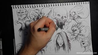 MONSTERS | Timelapse Speed Drawing