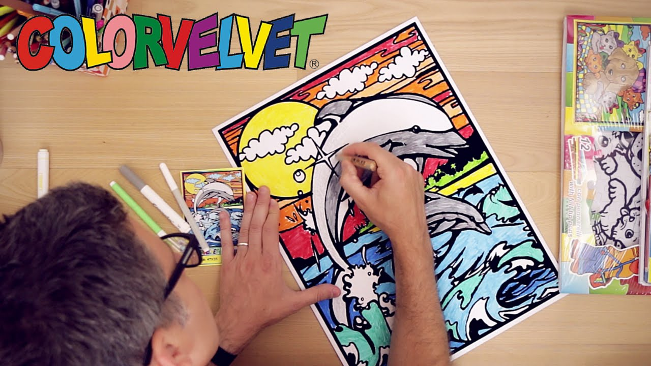 Come Colorare Sul Velluto Con Colorvelvet Bello E Creativo Youtube