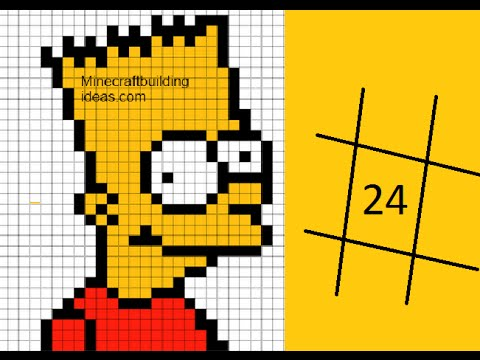 Bart Simpson Pixel Art Youtube