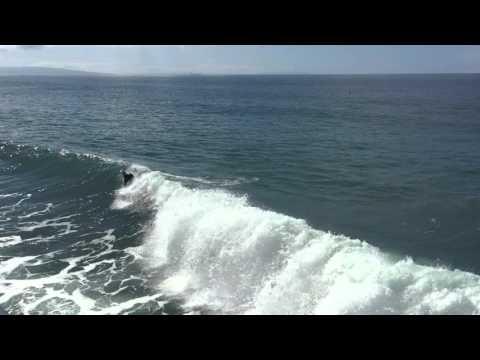 Surfing Santa Monica Pier