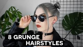 8 CUTE GRUNGE HAIRSTYLES | quick & easy