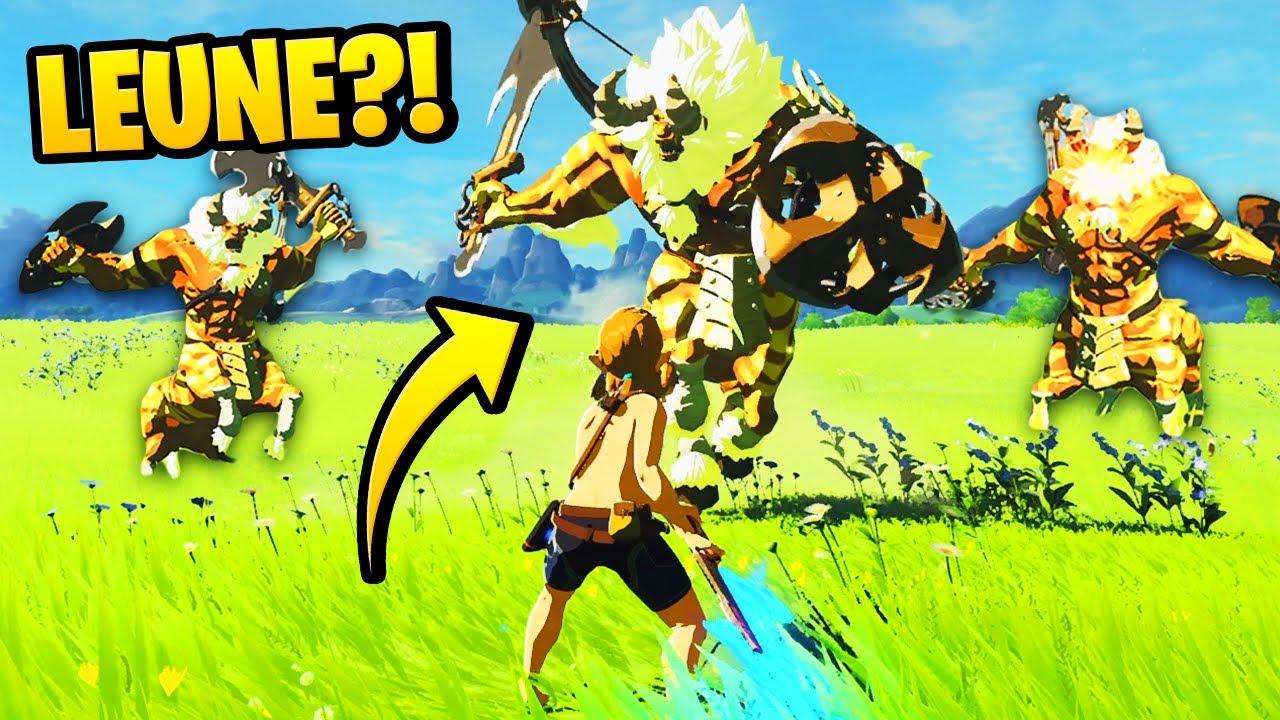 Zelda BOTW aber JEDER GEGNER ist EIN LEUNE (Zelda Breath of the Wild Deutsch Challenge)