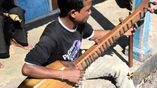 Khasi tribe guitare musical instrument in Meghalaya, North East India.
