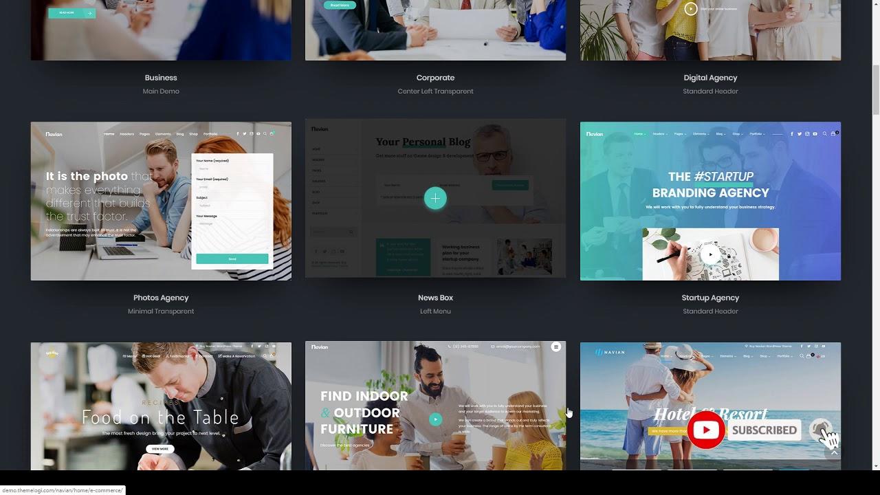 Navian - Multi-Purpose Responsive WordPress Theme - YouTube