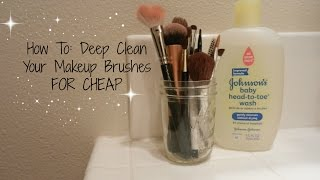 How to: Clean Your Makeup Brushes - Easy & Affordable Method Thumbnail