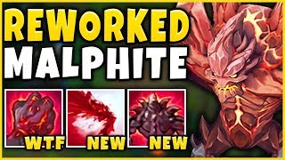 NEW MALPHITE REWORK IS ACTUALLY INSANE! (HUGE ULTS) BIGGEST CHAMPION IN GAME! - League of Legends