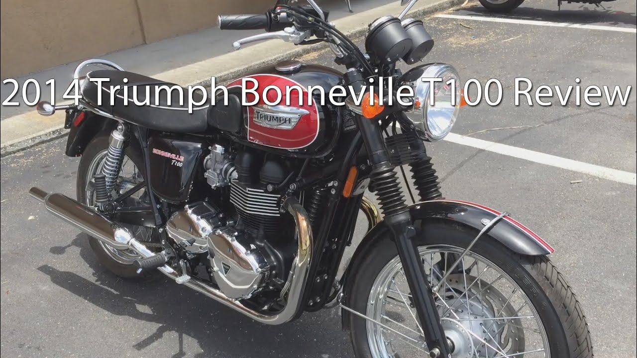 2014 Triumph Bonneville T100 Motorcycle Review - YouTube