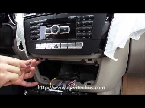 HOW TO DISASSEMBLE MERCEDES BENZ NEW ML HEAD UNIT For VIDEO INTERFACE CONNECTION