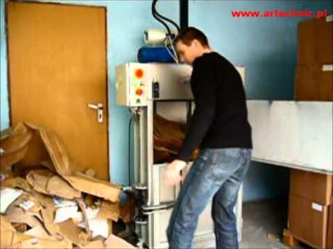 Poważnie ARTechnic Belownica pionowa, prasa do odpadów ARTechnic PBe40p MD54