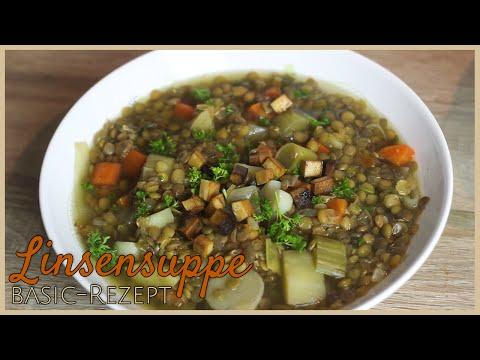 LINSENSUPPE  BasicRezept  vegane, günstige & einfache Küche