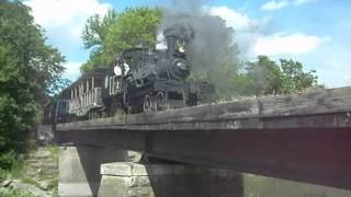 Heisler Logging Locomotive Crossing Old Stone Pier Bridge Over Yellow Creek On Fathers Day 2013