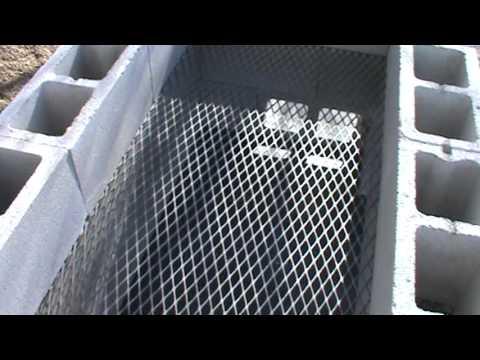 Cinder Block Smoker Pt I Youtube