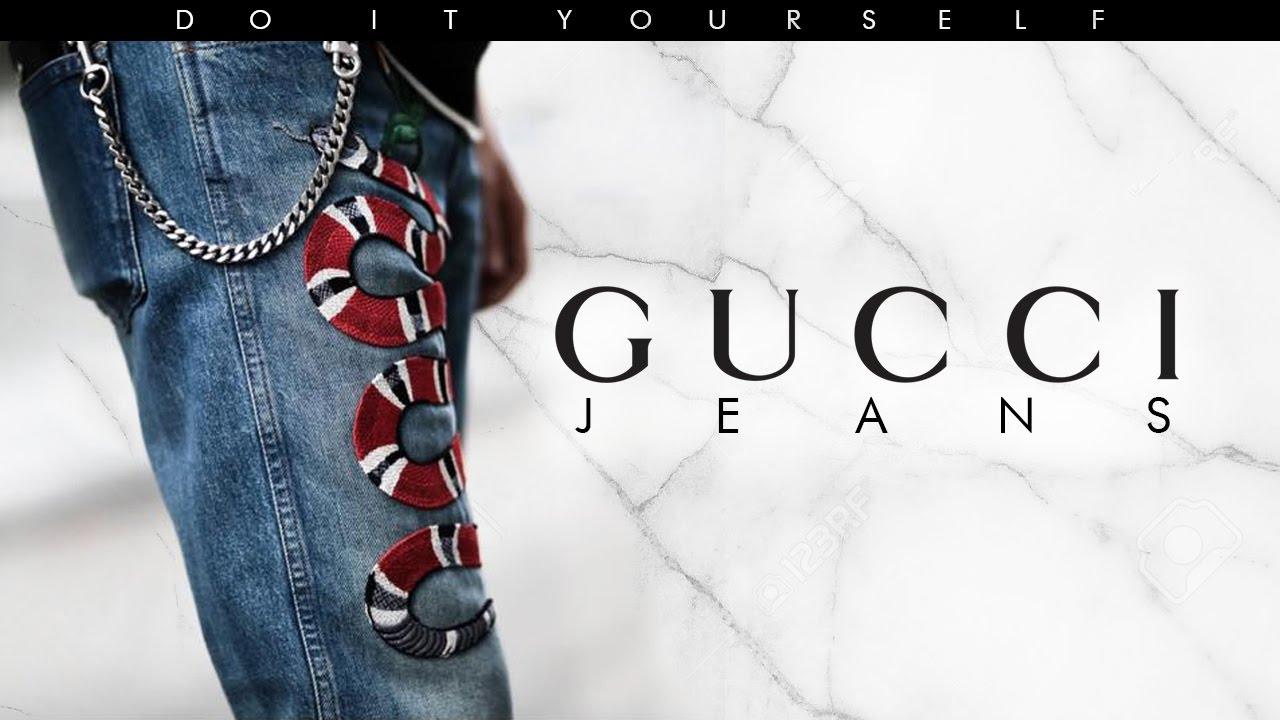 Diy Gucci Jeans David Tasco Youtube