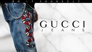 DIY Gucci Jeans - David Tasco 👞 ✨👕