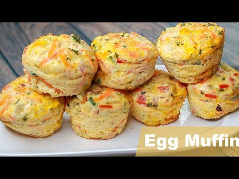 Easy Egg Muffin | Vegetable Omelette Muffin Recipe | Easy Breakfast Recipe | Snacks Recipe | Toasted