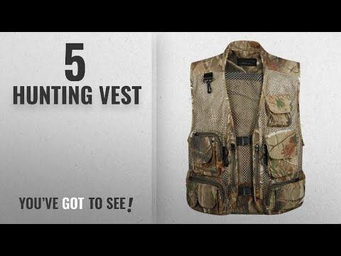 Top 10 Hunting Vest [2018]: Gihuo Men's Outdoors Utility Hunting Travels Tactical Mesh Removable