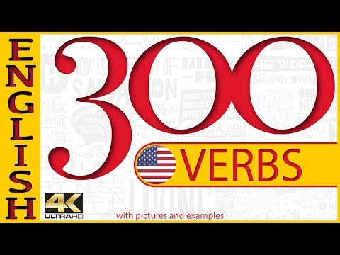 300 verbs with examples and pictures - English Common Verbs - learn english - english listening
