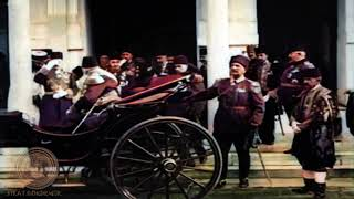 1915 - Sultan Reşat, Şehzade Yusuf İzzeddin Efendi, Talat Paşa...[Renkli]