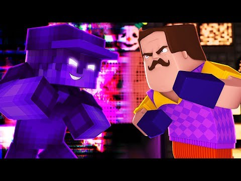 PURPLE GUY VS HELLO NEIGHBOR! Minecraft HIDE N SEEK