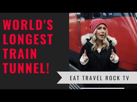 LONGEST TRAIN TUNNEL IN THE WORLD | SWITZERLAND | Eat Travel Rock TV