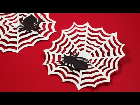 DIY Paper Spider Web | How To Make Spider Web For Halloween Decorations | Spider Web Craft