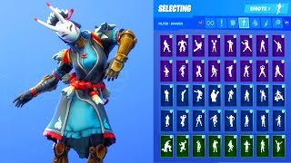 NARA SKIN SHOWCASE WITH ALL FORTNITE DANCES & EMOTES