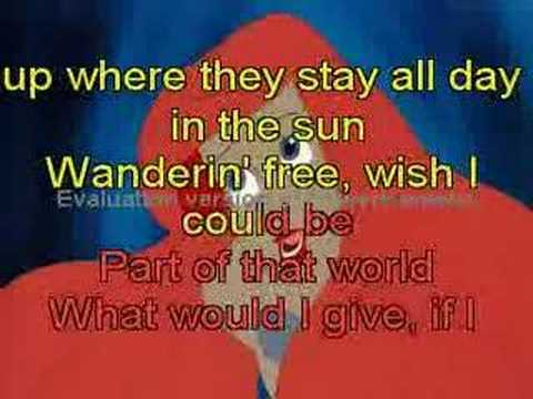 Part of Your World Karaoke / Instrumental The Little ...
