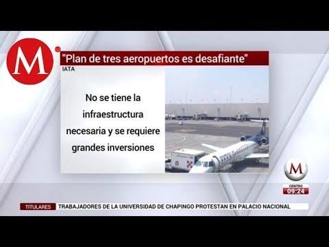 IATA y aerolíneas: inviable, operar en 3 aeropuertos