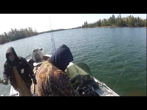 Ontario Canada Lake Trout Fishing - Lake of the Woods Spring Lake Trout Fishing