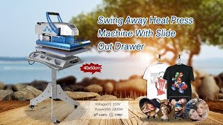 how to use Mecolour Swing Away Heat Press Machine with Slide Out Drawer?