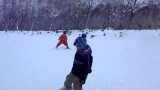 Kids Ski  Niseko Annupuri 2010 12 23