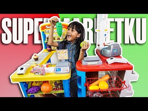 Mainan anak kasir kasiran SUPERMARKET besar model terbaru