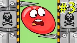 Несносный КРАСНЫЙ ШАР спасает любимую #3. Мультик ИГРА Red Ball 3 на Игрули TV