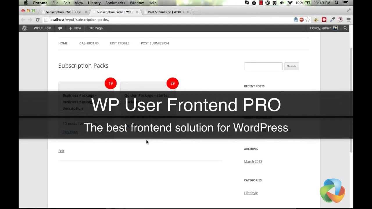 WP User Frontend Pro - Ultimate Frontend Solution For