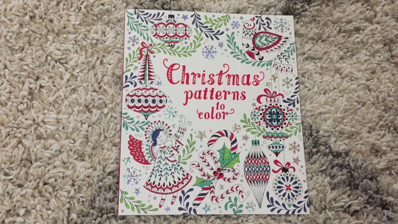 Usborne Christmas Patterns to Color - YouTube