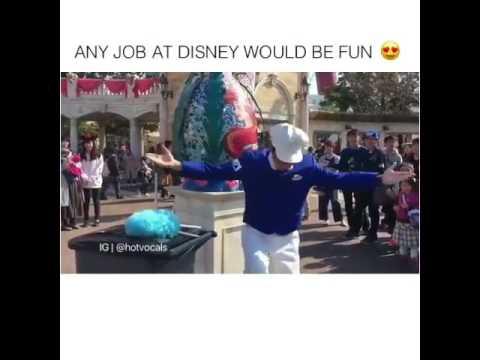 Janitor At Disney World Play Little Mermaid Tunes