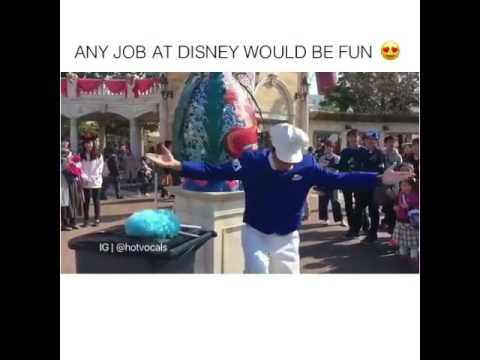 Janitor At Disney World Play Little Mermaid Tunes