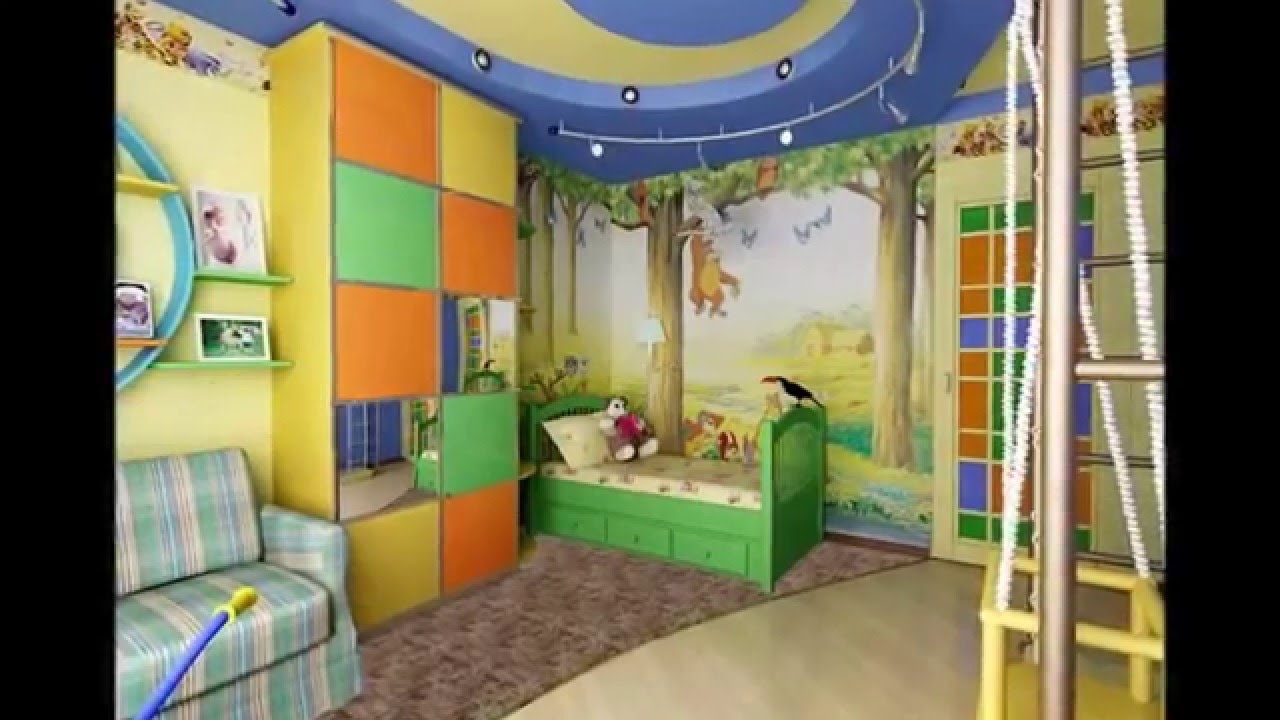 Идеи оформления детской комнаты для мальчика - YouTube