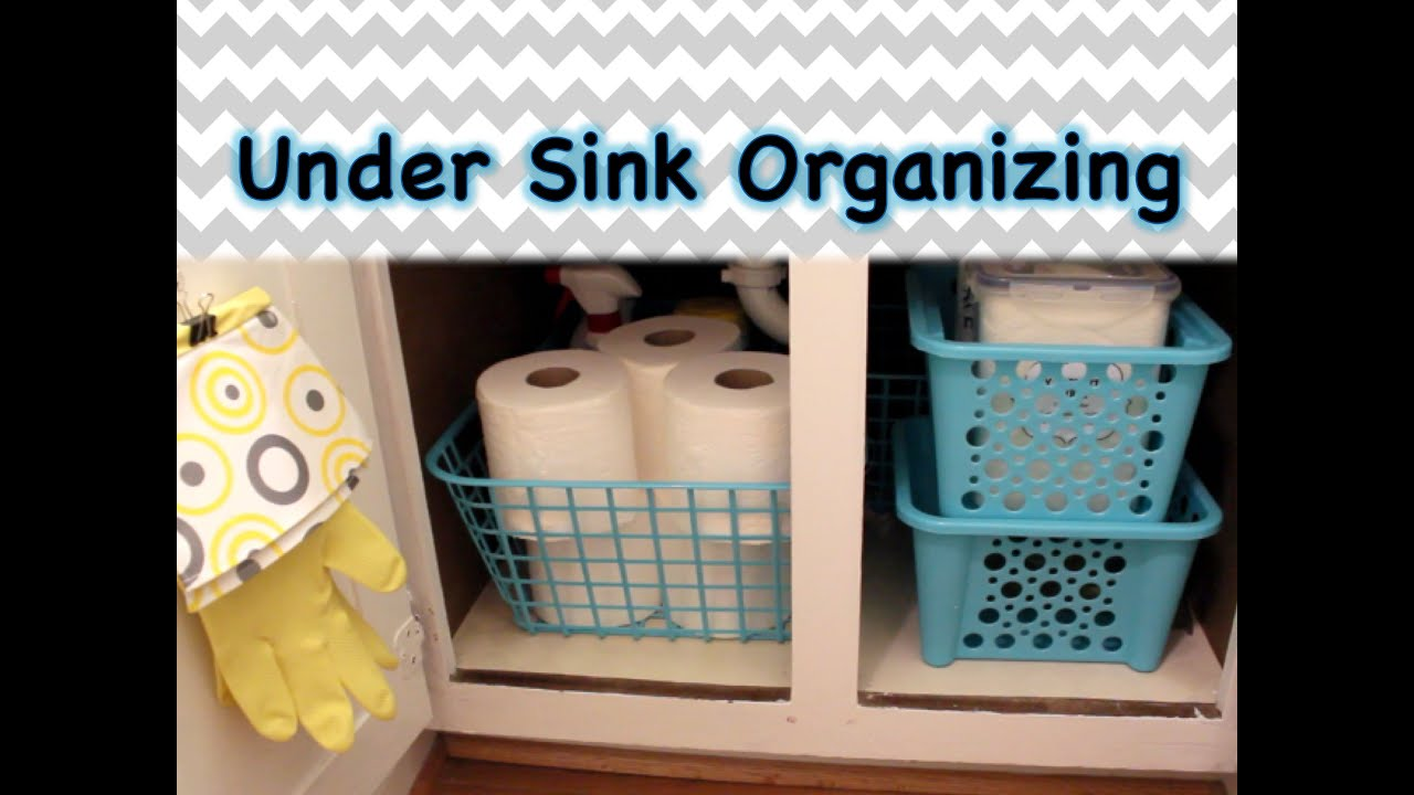 dollar tree organizing under the sink spring 2015 youtube - Bathroom Organizers Under Sink