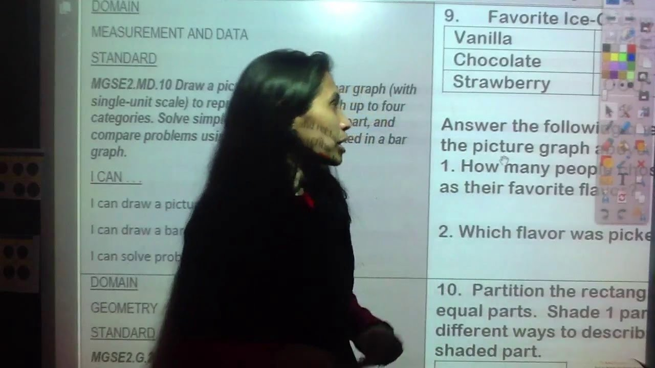 Monday Math Practice #9 (March 14, 2016) MGSE2.MD.10 - YouTube