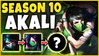 WORLDS FIRST SEASON 10 AKALI GAMEPLAY! (DESTROYING PRO PLAYERS) - League of Legends
