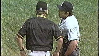 Cubs-Pirates, Aug. 2, 1993 (7th inning, Leyland erupts, Harry sings)