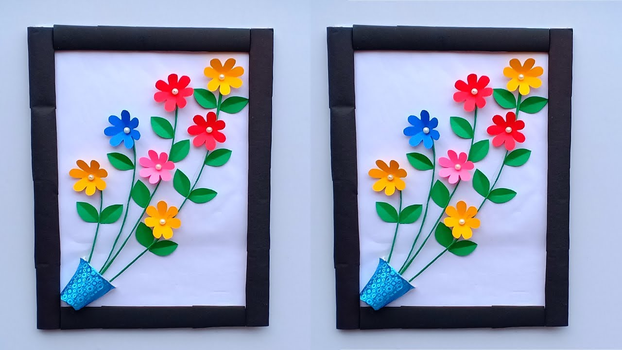 DIY Easy Paper Flower Wall Hanging Decoration | DIY Room Decor Crafts | Creative Art