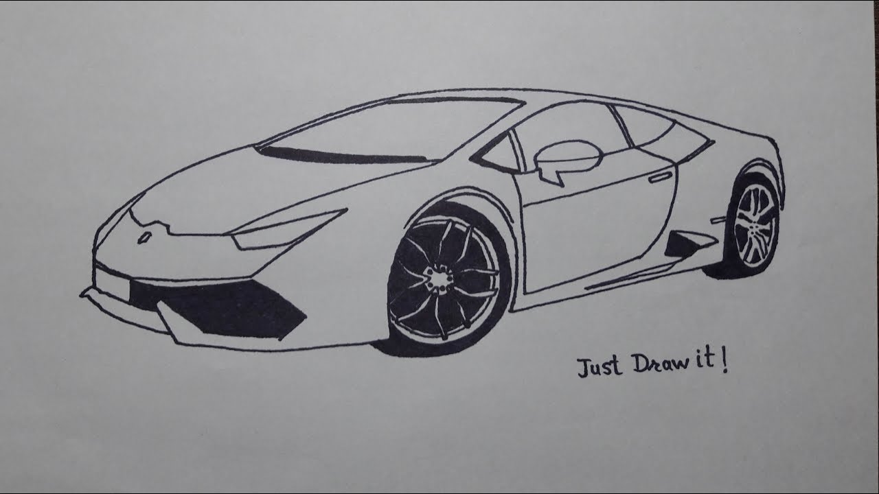 How to draw Lamborghini huracan. - YouTube