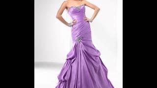 Сиреневое платье: популярные модели