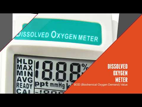 Dissolved Oxygen Meter Tester With Temperature Measurement For Water Quality Aquaculture
