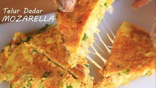 Telur Dadar Mozarella Menu Breakfast Kekinian | Mozarella omelet