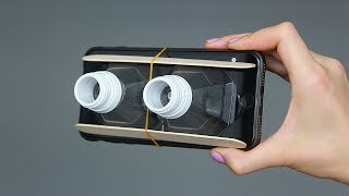 Гаджет для телефона из пластиковых бутылок и ..... A DIY mobile phone gadget from plastic bottles